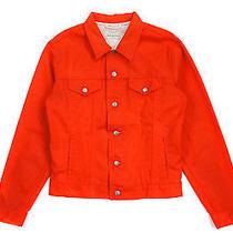 Dries Van Noten Painted Denim Jacket Orange - Mens L Photo
