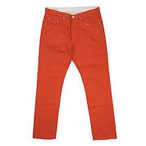 Dries Van Noten Painted Denim Pants Orange - Mens 33 Photo