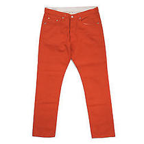 Dries Van Noten Painted Denim Pants - Orange Us33 Photo