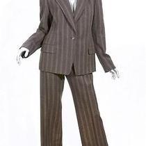 Dries Van Noten Pants Suit Sz 42 / 10 Brown Wool Cashmere Blend Blazer Jacket Photo