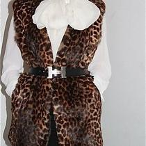 Dries Van Noten Rabbit Fur Leopard Print Vest Size S Photo