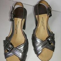 Dries Van Noten Silver Metallic Heels Size 35.5 (Y) Photo