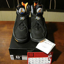 Ds Air Jordan 8 Viii Suns  Sz 8.5 W/receipt  Aqua Playoffs Chrome Bugs Bunny Photo