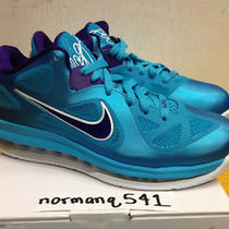 Ds Nike Lebron Ix Low Hornets Sz 8.5 Turquoise Blue Lake Summit Miami Night Cork Photo