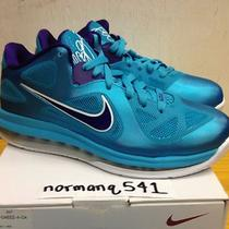 Ds Nike Lebron Ix Low Hornets Sz 8 Turquoise Blue Lake Summit Miami South Beach Photo
