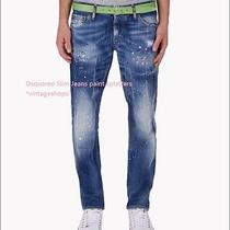 Dsquared 2 Runway Slim Jeans Nwt Paint Splatters Authentic Items Photo