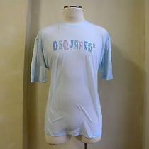 Dsquared Amazing Light Blue Linen-Cotton Paint Splash T Shirt Xl Rare  Photo