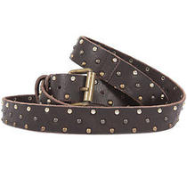 Dsquared D2 Dsquared2 Women New Black Studded Leather Belt Made in Italy Photo