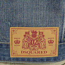 Dsquared Dan Dean Distressed Safe Outdoors Medium Denim Jean Jacket Photo
