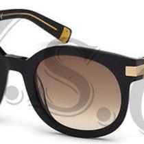 Dsquared Dq0134 Sunglasses Dq 134 Authentic Round Glasses Retro 01f Black New Photo