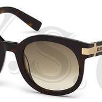 Dsquared Dq0134 Sunglasses Dq 134 Authentic Round Glasses Retro 52p Havana New Photo