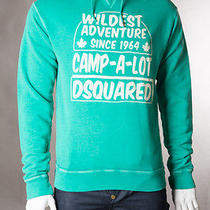 Dsquared Green Hooded Sweatshirt Photo