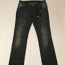 Dsquared Jeans Black With Paint New Size 44 Photo