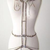 Dsquared Jeweled Crystal Necklace Belt Body Chain Harness Photo