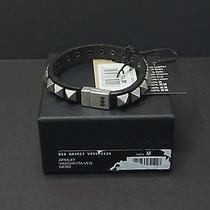 Dsquared Men/unisex Black Leather Studded Bracelet Size M New Nwb 150 Photo