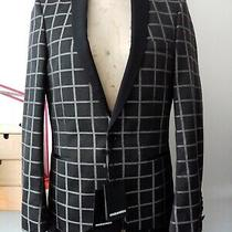 Dsquared Mens Charcoal/silver Check  Single Breasted Tux  Blazer Size 38 Uk Photo