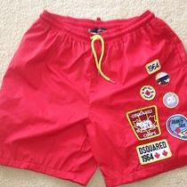 Dsquared Mens Shorts Red Photo