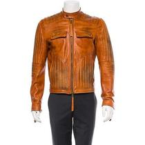Dsquared Motorcycle Jacket - Famous Motorcycle Brown Moto Coat Photo