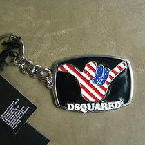 Dsquared Rare American Flag Enamel With Link Key Chain Ring  Made in Italy Photo