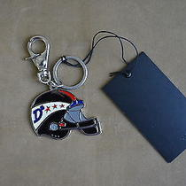 Dsquared Rare Multicolor Enamel American Football Key Chain Ring Sport  Photo