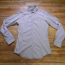 Dsquared Runway Beige Single Pocket Dress Shirt M 48 Photo
