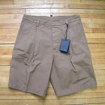 Dsquared Runway Camp Brown Khakis Casual Dress Classic Pleated Shorts 48 32  Photo