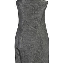 Dsquared Silver Strapless Mini Corset Dress Us 8 Eu 44 Photo