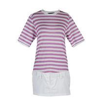 Dsquared Striped Shift Mini Casual Dress Us M Eu 42 Photo