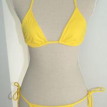 Dsquared Triangle Bikini in Yellow Nwt Photo