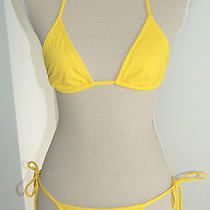 Dsquared Triangle Bikini in Yellow Nwt Photo