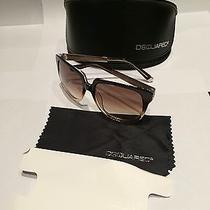 Dsquared Women's Bronze Metal and Light Havana Uv Butterfly Sunglasses Dq0063 Photo