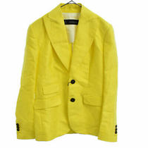 Dsquared2 14ss 2b Color Linen Tailored Jacket Yellow S72bn0351 Used S Photo