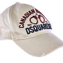 Dsquared2 Adjustable Men's Cotton Hat Baseball Cap New Beige  1d4 Photo