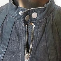 Dsquared2 Biker Style Made in Italy Stunning Jacket With Leather Application Photo