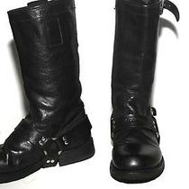 Dsquared2 Black Harness Buckle Riding Boots Size 36 Photo