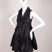 Dsquared2 Black Silk Taffeta Trench Sleeveless Dress Sz 38 Photo