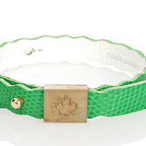 Dsquared2 D2 New Unisex Green Genuine Leather Bracelet Armlet Wristband One Size Photo