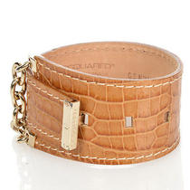 Dsquared2 D2 New Woman Crocodile Print Leather Armlet Wristband Bracelet 139 Photo