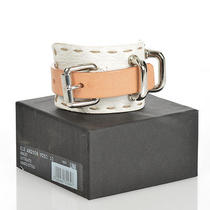 Dsquared2 D2 New Woman Genuine Leather Armlet Wristband Bracelet One Size 378 Photo