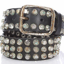 Dsquared2 D2 New Woman Studded Leather Brass Belt Sz S Original Retail 449 Sale Photo