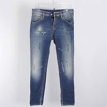 Dsquared2 Distressed Paint Splatter Button Fly Denim Jeans Size 40 Photo