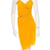 Dsquared2 Dsquared Yellow Silk Dress Sundress It 40 Us 4 Xs Photo