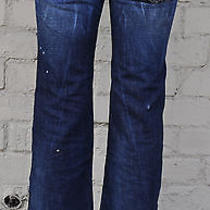 Dsquared2 Dsuared 2 Distressed Paint Splatter Blue Jeans 42 Italy Photo