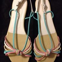 Dsquared2 High End Designer Multi Color Pastel Leather Sandals - New - Size 41 Photo