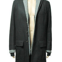 Dsquared2 Leather 3 Pieces Chester Coat Jacket Size 52 Black Mens Used Photo