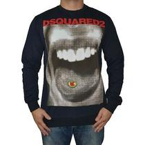Dsquared2 Long Sleeve Crew Neck Sweater Shirt Blue With Red Logo Size Xxl Photo