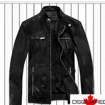 Dsquared2   Man Leather Jacket - Size  ( L ) Photo