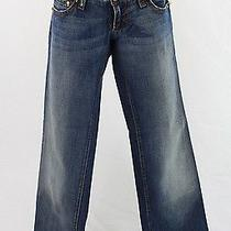 Dsquared2 Medium Wash Blue Denim Jeans Gold Tone Skull Head Accent Pants 42 8 Photo