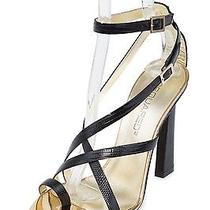 Dsquared2 New Dsquared Womens Toe Ring Black Leather Sandals Size Eu 38 Us 8 Photo