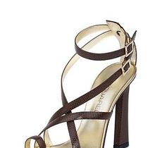 Dsquared2 New Dsquared Women Toe Ring Brown Leather Sandals Size Eu 37.5 Us 7.5 Photo